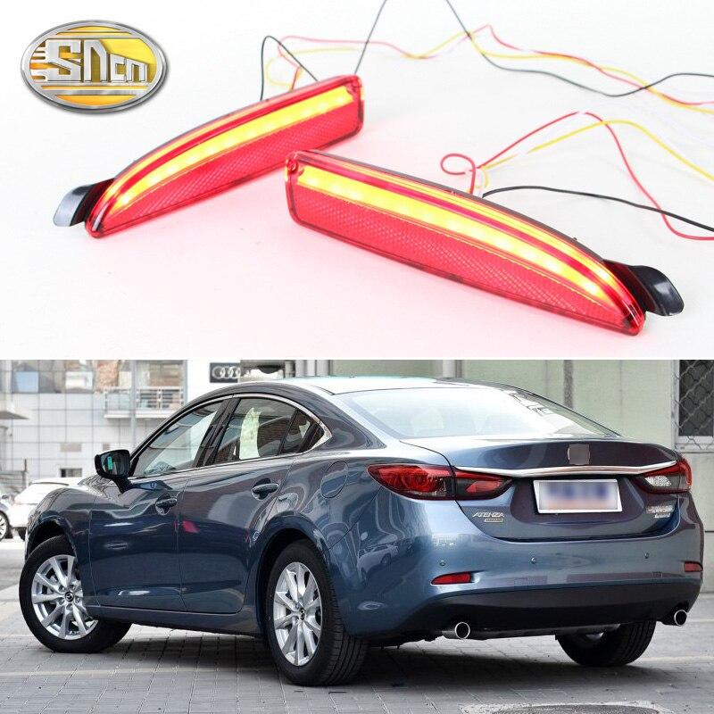 For Mazda 6 2016 2017 2018 SNCN Multi functions Car LED Rear Fog Lamp Bumper Light Auto Brake Light Turn Signal Light Reflector