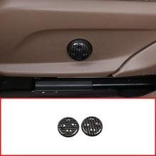 In Fibra di carbonio Stile Seduta IN ABS Regolare Tasto di Interruttore di Copertura Trim Per Mercedes Benz GLC/CLS/E/C classe W205 W212 W213 Accessori Auto