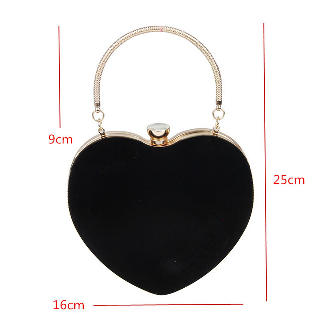 Heart Shaped Clutches Evening Bags 4
