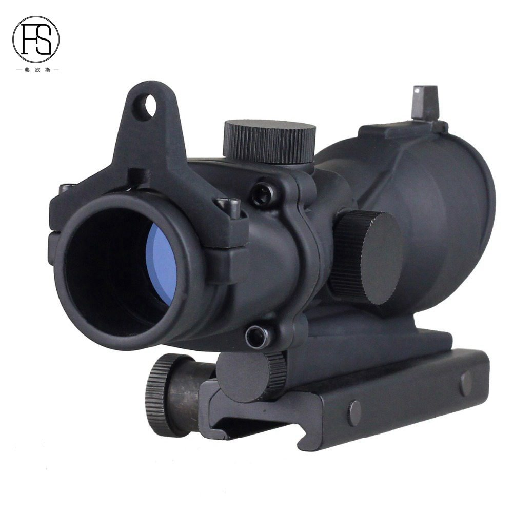 ФОТО Hot Support Wholesale Hunting Tactical Rifle Racer ACOG Type 1x32 Red / Green Point Rifle Sight with 22mm Mount Airsoft CS Live