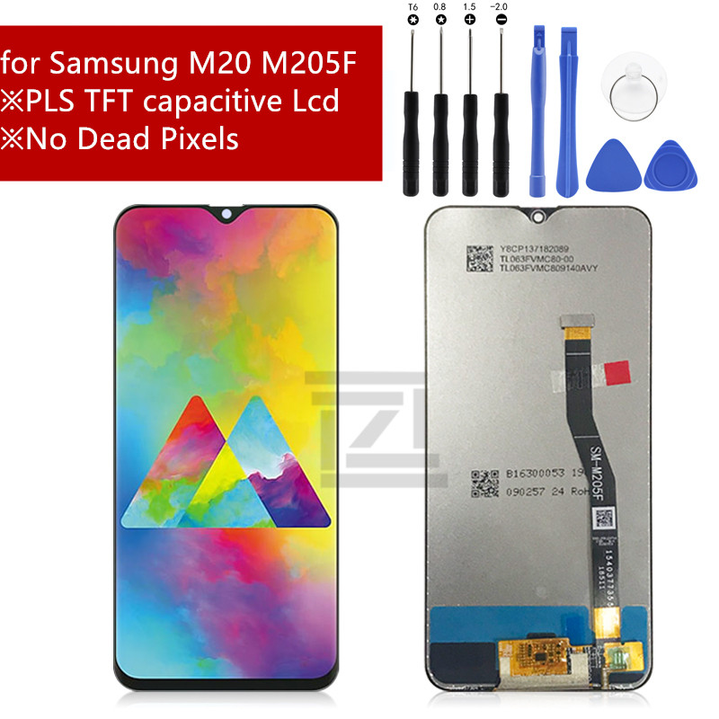 For Samsung Galaxy M20 2019 SM M205 M205F LCD Display Touch Screen Digitizer Assembly Replacement 100