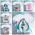 2016 Clothes Hatsune Miku T Shirt Anime Japanese Famous Animation Novelty Summer Men's T-shirt Cosplay Costume Clothing XD-017