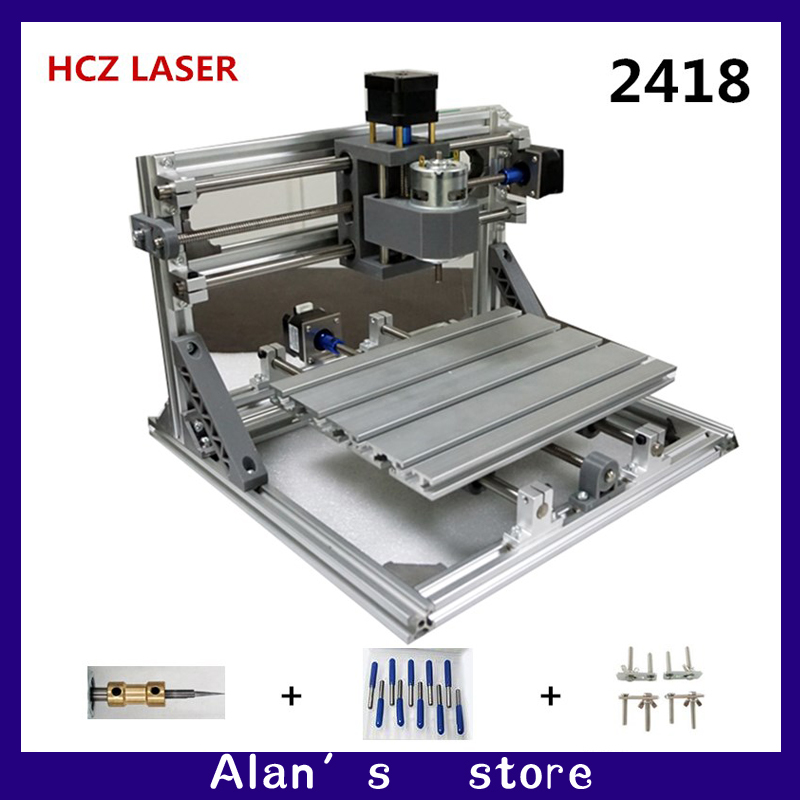 CNC DIY 2418 ER11 GRBL control mini CNC machine tools, PCB milling machine, laser engraving machine Woodworking router best toys