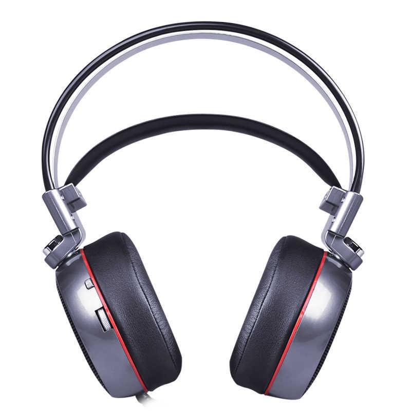 ZOP N43 سماعة رأس ستيريو للألعاب 7.1 الظاهري المحيطي باس الألعاب سماعة سماعة مع مايكروفون مصباح ليد للكمبيوتر ألعاب الكمبيوتر