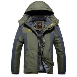 Image 4 - Winter Jacket Men Thick Windproof Waterproof Fleece Jackets Mens Military Outwear Parka Overcoat Plus size 6XL7XL 8XL 9XL  Coats