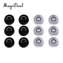 MagiDeal 12Pcs Stainless Steel D-ring Pad/patch on PVC Patch for PVC Inflatable Boat Raft Dinghy Kayak Canoe Accessories