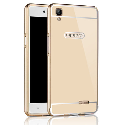 best service 23399 a0345 FOR OPPO R7S cases R7s phone metal frame & pc back cover protector sets for  oppo 5.5inch shell by free shipping