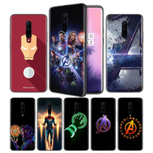 Marvel Avengers Endgame logo Soft Black Silicone Case Cover for OnePlus 6 6T 7 Pro 5G Ultra-thin TPU Phone Back Protective