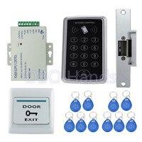 Full Waterproof RFID Access Control System Kit T11 Digital Lock 3A 12V Power Supply Electric Strike