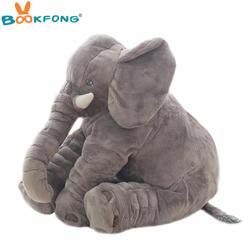 40 см/см 60 см большой плюшевый слон кукла Дети Спящая мягкая задняя подушка милый плюшевый слон ребенок сопровождать кукла рождественский