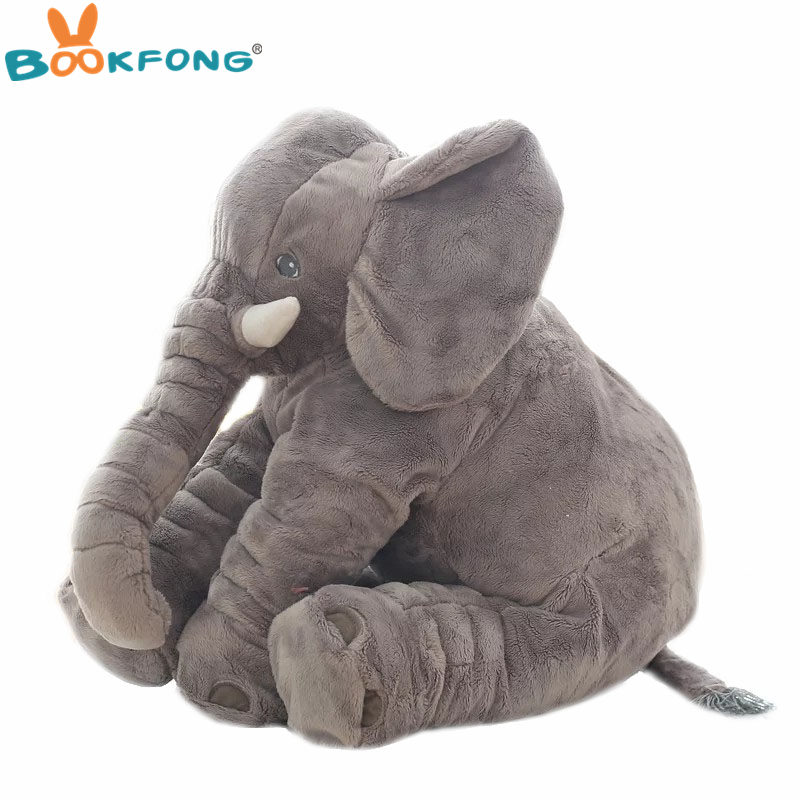 40 cm/60 cm Grote Pluche Olifant Pop Kids Slapen Soft Back Kussen Leuke Gevulde Olifant Baby Begeleiden Pop xmas Gift