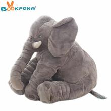 40cm 60cm duży pluszowy słoń lalka dzieci Sleeping miękki powrót Poduszka ładny nadziewany słoń dziecko towarzyszyć lalka Xmas prezent tanie tanio Stuffed Plush Animals Figure Statue Unisex BOOKFONG keep away from fire Elephant Bawełna PP TV Movie Character Plush Nano Doll
