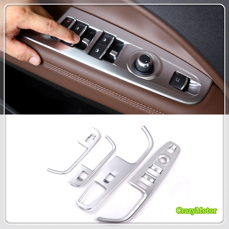 For Left hand drive! ABS Interior Inner Window Lift Cover 4* Car styling For Alfa Romeo Stelvio 2017 2018