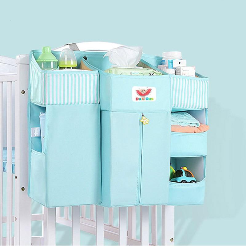 Baby Bed Crib Bedding Set Newborn Cot Sets Hanging Storage Bag Diaper Bag Baby Bed Storage Pockets Child Kid Organizer Toy
