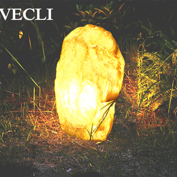 Vecli Lawn Landscape Lighting Big Luminescent Stone Decorative Style Outdoor Gargen Roadside Hotel