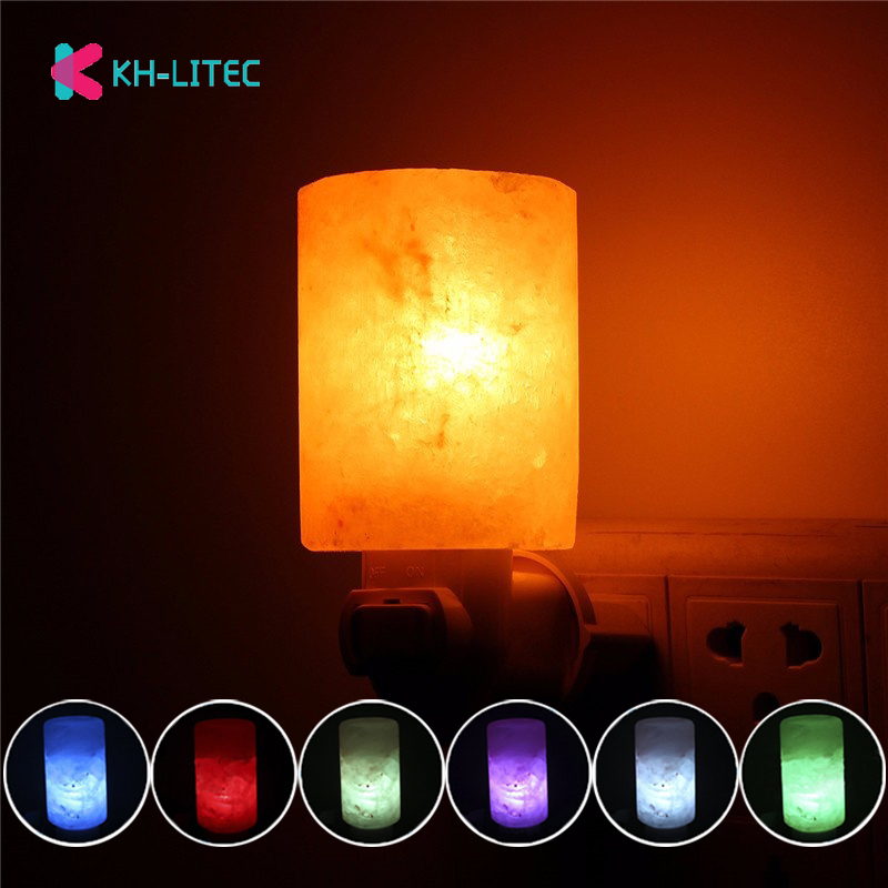 15w 7 Colors Change Mini Hand Carved Himalayan Salt Lamps Natural Crystal Air Purifier Night Light Home Wall Decor EU US Plug