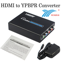ROHS CE FCC HDMI to YPBPR Converter Box Converts HDMI to Component Video (Y Pb Pr) and Stereo Audio for HDTV STB DVD Projector