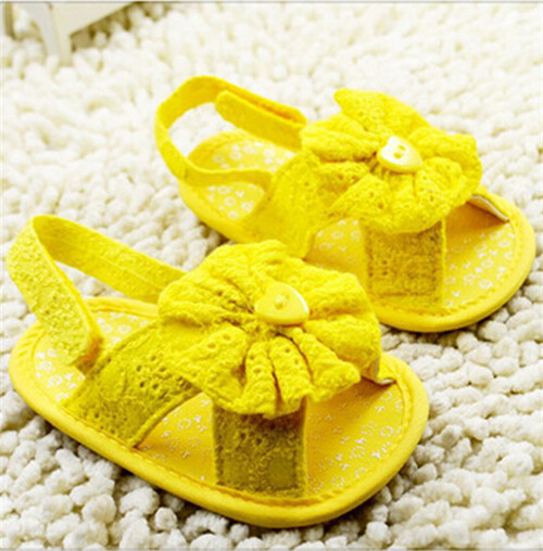 2015 Summer Fashion Flower Baby Shoes Newborn Lace Shoes Antislip Cute Infants First Walker Freeshipping