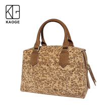 KAOGE  Vegan Women Handmade Bag Eco-friendly Natural cork Handbags Women Famous crok Handbags Luxury Ladies Hand Bags Shoulder rustic natural cork wallet for men cork vegan handmade casual wooden eco wallet from portugal bag 200