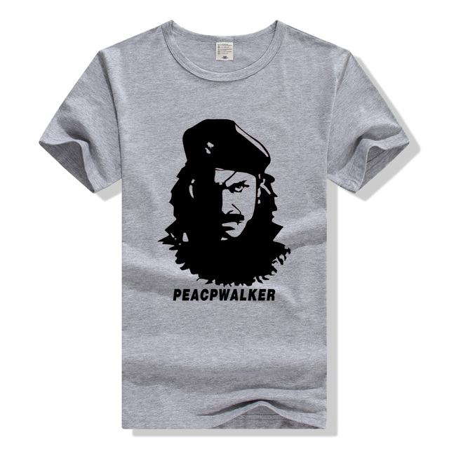 Peace Walker Snake Big Boss T Shirt Metal Gear Solid T-Shirt Cotton Men Women Tee MGS Tshirt Plus Size Sumer Clothing