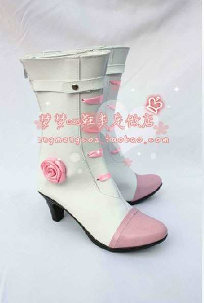 New Arrival Macross Frontier Wedding Dress Version Sheryl Nome Cosplay Boots Shoes Designer For Halloween