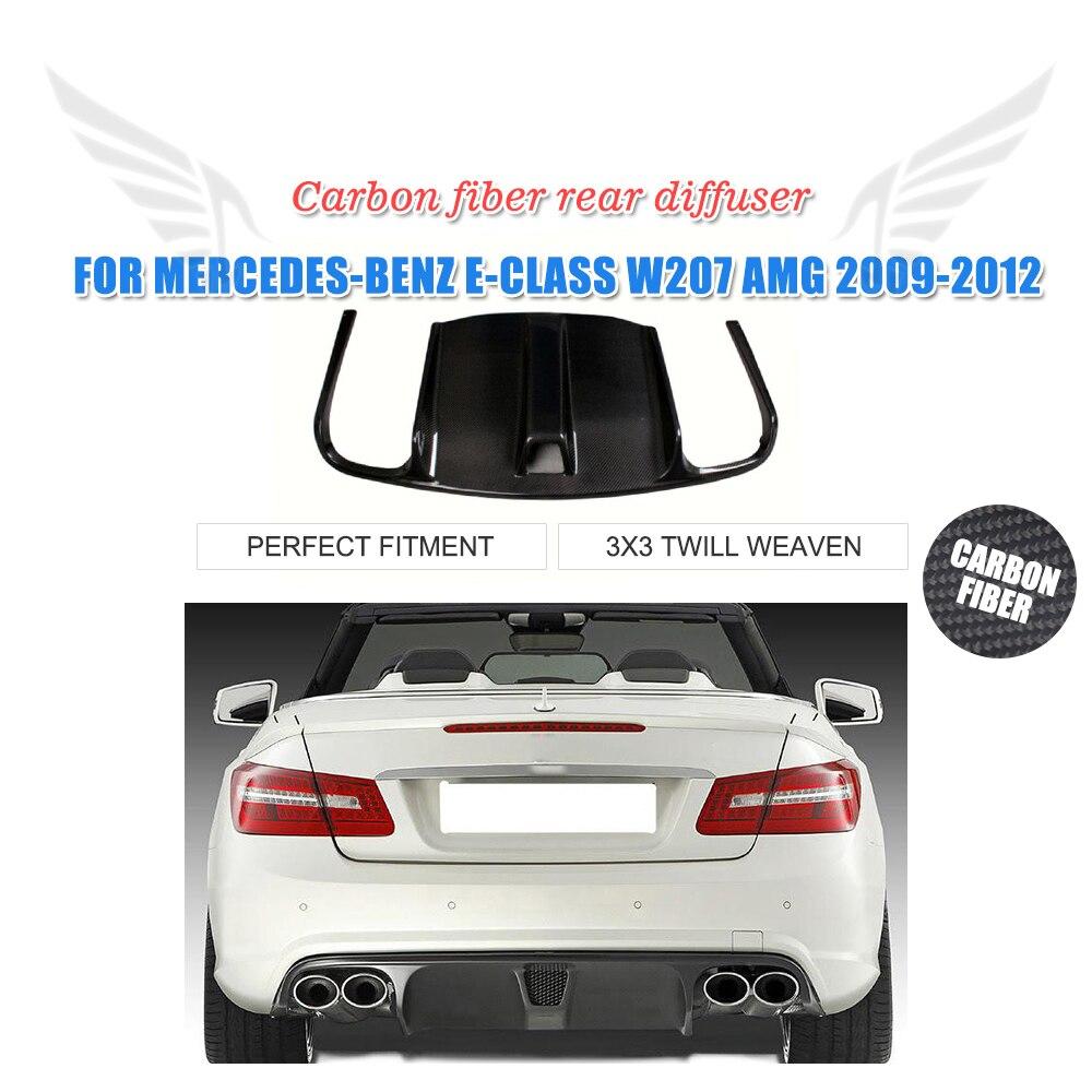 Carbon Fiber Frp Black Car Rear Bumper Diffuser Lip Spoiler Mercedes Benz Exhaust For W207 Amg 2010 2012