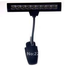 Music Stand Light Lamp With Adapter Clip-On Desk 2 Modes Gooseneck LED Lamp For Guitar Musical Instruments Book Lights Flexible