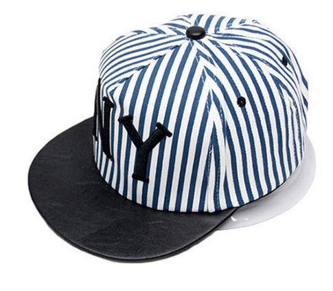 Unisex Men Women Bboy Baseball Cap NY Stripe Snapback Hip-Hop Hat