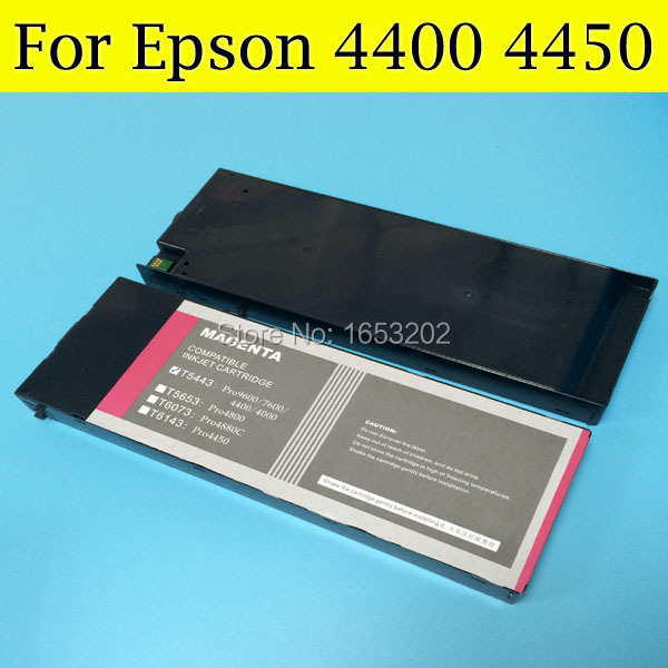 4 Pieces/Lot Refill Full Pigment Ink Cartridge T6142-T6144 T6148 T614 For Epson 4450 Printer With Resettable Chip цена
