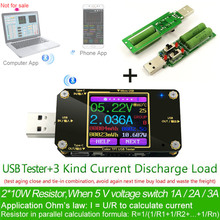 TFT Color USB Type-c tester Wireless Bluetooth DC Digital voltmeter current voltage meter detector power bank charger indicator недорого
