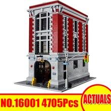 Lepin 16001 4705Pcs Ghostbusters Figure Firehouse Штаб-квартира Building Blocks Bricks Educational Toy Set Модель Совместимость 75827