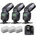 3 x Godox TT600 bauen in 2 4g Empfänger GN60 HSS Flash + X1T Sender für Canon-in Blitze aus Verbraucherelektronik bei