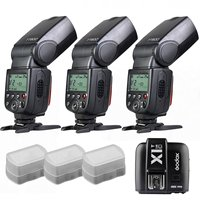 3 x Godox TT600 build in 2.4G Receiver GN60 HSS Flash + X1T Transmitter for Canon