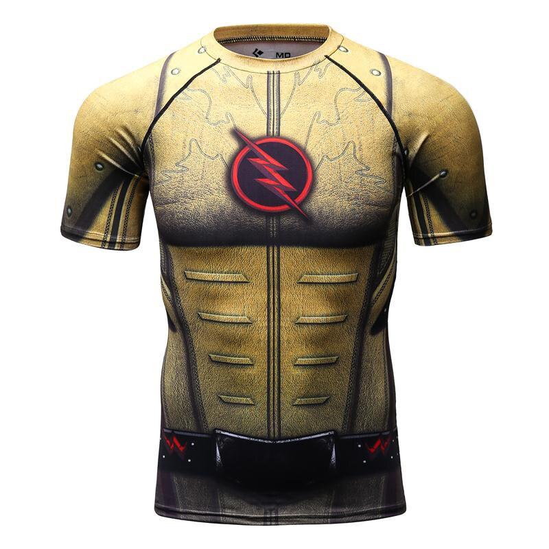 Compressie Shirt-3D Gedrukte T-shirts Heren Lange Mouw Superman - Herenkleding - Foto 5
