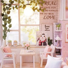 DIY Doll House Miniature Dollhouse with Furnitures Wooden Furniture Kit Toys for Children Christmas Gift  2019
