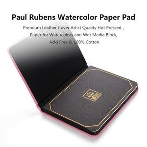 Image 5 - פול רובנס 300g/m2 בצבעי מים נייר Pad 20 גיליונות 100% כותנה עור כיסוי ספר בצבעי מים עבור Ourdoor ציור 16 K/32 K