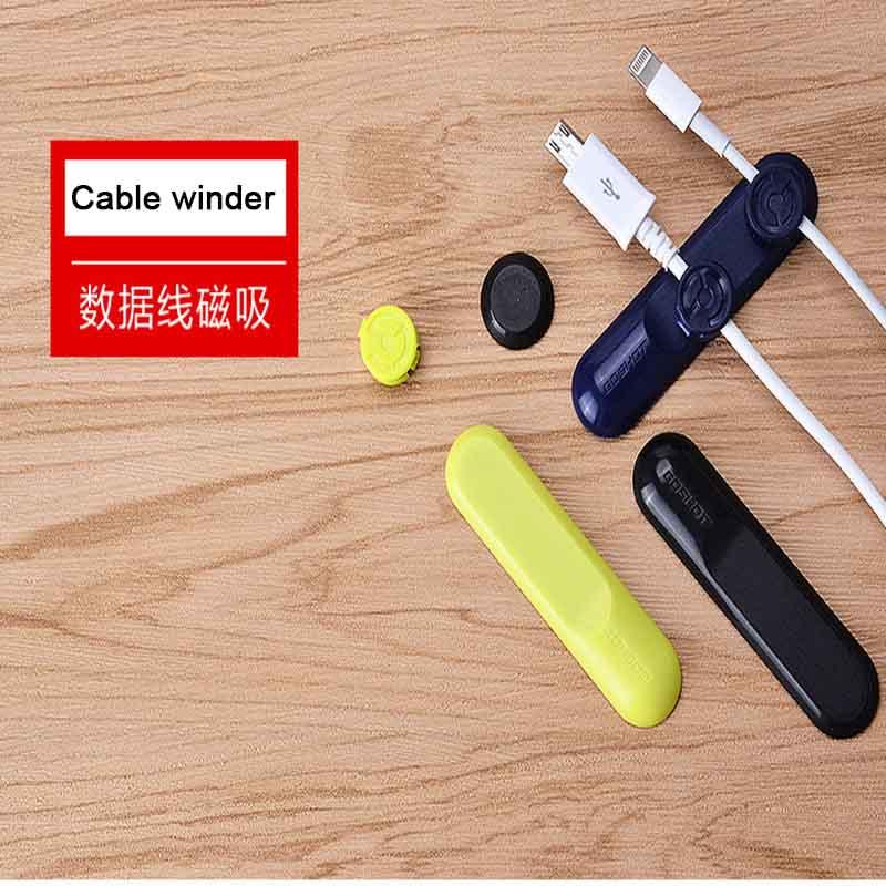 Наушники Магнитный намотки кабеля USB Зарядное устройство Шнур <font><b>Wrap</b></font> Организатор Держатель Tidy кабель для iPhone Samsung HTC Xiaomi