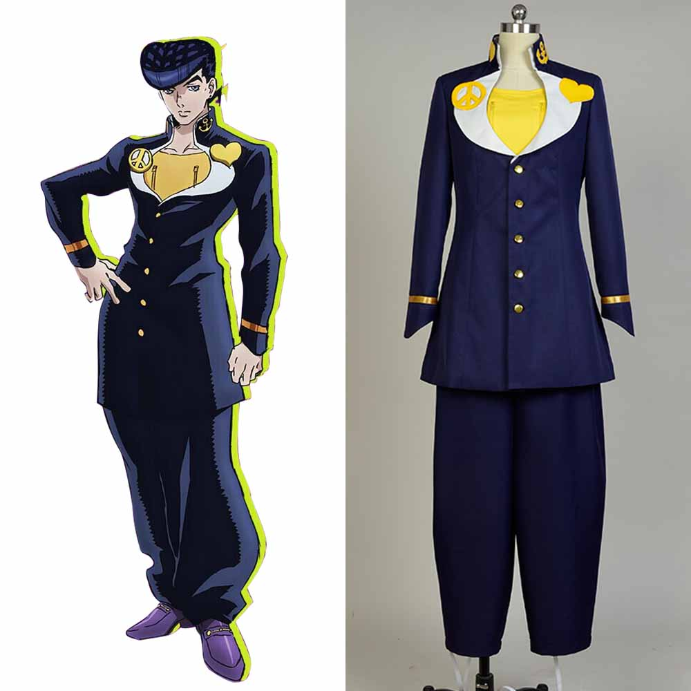 JoJo's Bizarre Adventure Cosplay Josuke Higashikata Costume Full Set Uniform Cosplay Halloween Carnival Women and Men Costume