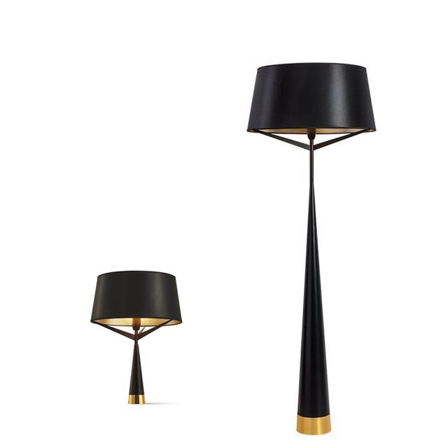 Boreal Europe Style Modern Floor Lamps Fashion Iron Lighting Black Gold Lamp  Cover Simple Modern Hotel