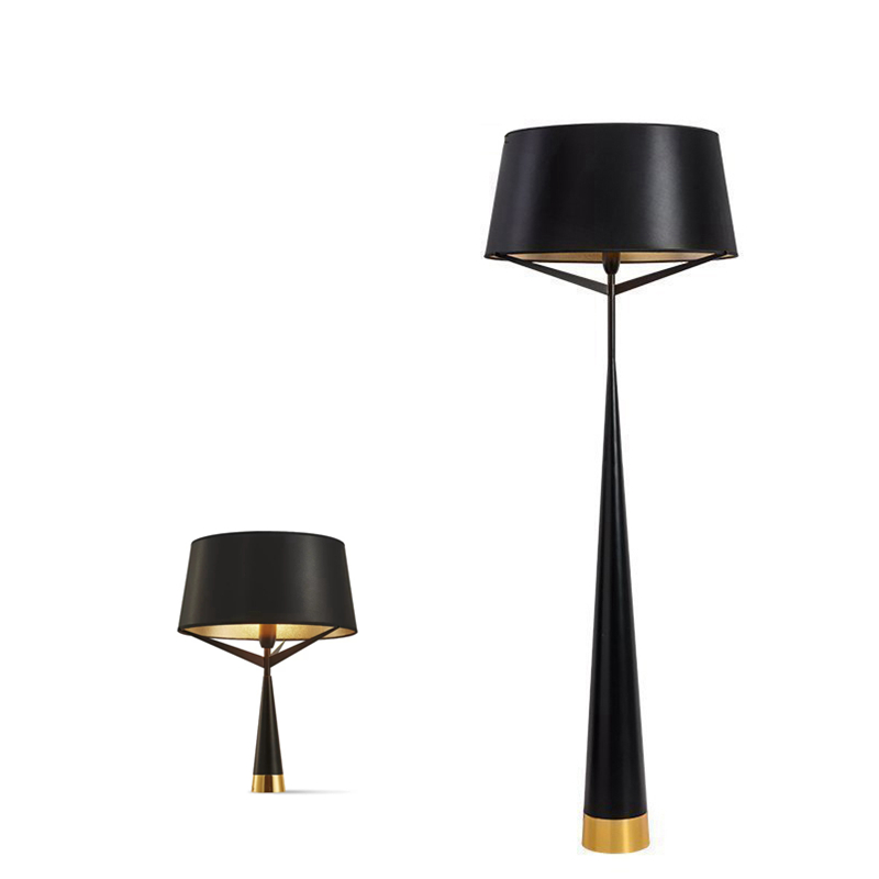 Boreal Europe Style Modern Floor Lamps Fashion Iron Lighting Black Gold Lamp Cover Simple Hotel Bedroom Living Room Home