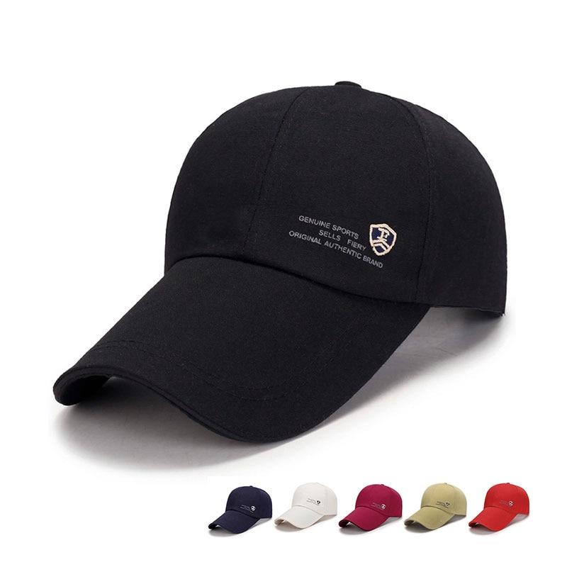 Cotton   Baseball     Cap   Hat For Women Men Casquette Sports Golf   Caps   Long Visor Brim Shade Snapback Camping Sun Hat Bone Gorras