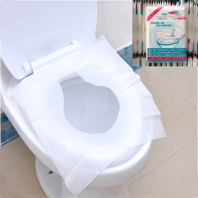 10Pcs Cool Pocket Size Tissue Disposable Paper Sanitary Toilet Seat Covers Camping Festival Loo Paper