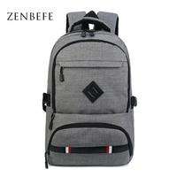ZENBEFE Large Capacity Men S Backpack Leisure Travel Bag For Men School Bag For Teenagers Fit
