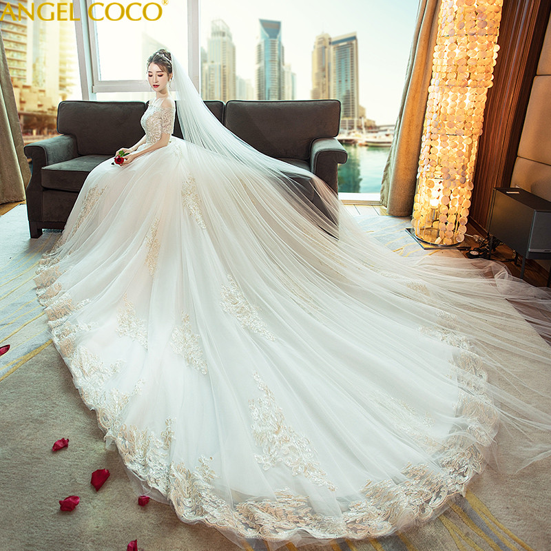 Gorgeous Champagne Maternity Dresses Court Handmade Flowers Long Tailed  Organza Pregnancy Clothes Great Gatsby Gown Dubai f7b5b34397fc