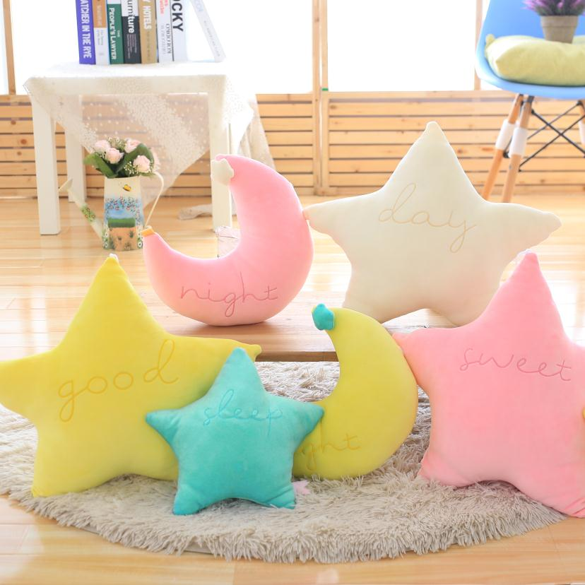 Baby Pillow Toys Soft Appease Star Moon Cloud Calm Doll Plush Toys Stuffed Doll Cute Bed Decoration Cushion Brinquedos Gift25cm cute 45cm stuffed soft plush penguin toys stuffed animals doll soft sleep pillow cushion for gift birthady party gift baby toy