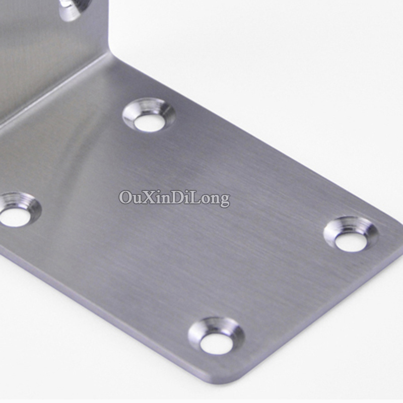 High Quality 50PCS Stainless Steel Right Angle Brackets Corner Braces Joint Shelf Support L Shape Furniture Connectors in Corner Brackets from Home Improvement