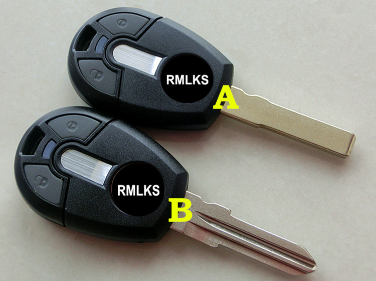 RMLKS New Style 2 Button <font><b>Replacement</b></font> Remote <font><b>Key</b></font> Case Shell <font><b>Fob</b></font> Fit For <font><b>Fiat</b></font> Positron EX300 Uncut Blade image