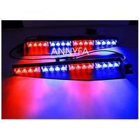 CIANO SUOLO BAY 32 LED Car Emergency Warning Strobe Visiera Montaggio Precipitare della piattaforma Luce Bar Red & Blue