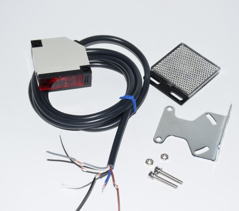 HTB1yIhOm9 I8KJjy0Foq6yFnVXaJ sliding garage door gate opener infrared beam Reflective Photocell for electrical gate photoelectric switch 2.5M gate photocells