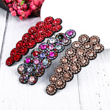 Fashion Crystal Hairpin Cute Hair Clips for Hair Accessories Girl Snap Clip Pins Adult Hairpins With Print Color Metal Barrettes